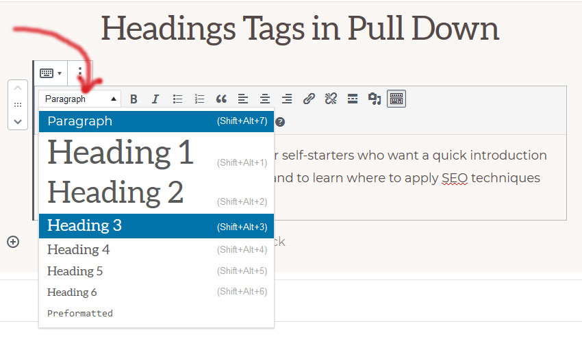 example of headings tags